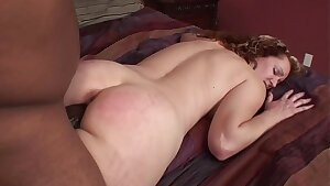 Amateur college girl Big Ebony Cock Rock-hard and Rough Sex Tape