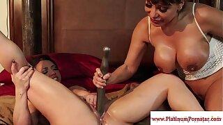 Ava Devine and Brandi Mae play with fucktoys