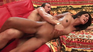 FFM Anal audition youthful amateur indian slut with small tits