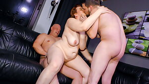 Mature SWINGER BBW Wife Cathrin Invites Youthful Guy For Threeway Hookup