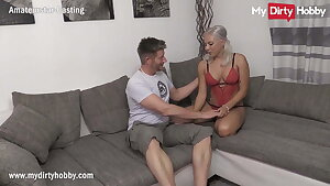MyDirtyHobby - Gorgeous huge-chested blonde does her first casting