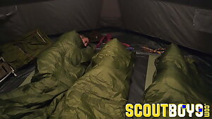 ScoutBoys Austin Young fucked outside in tent by older parent