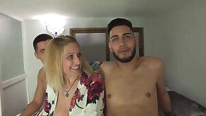 ULTIMATE Cougar Nuria wants dicks in pairs!!