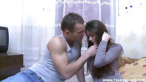 Shy sweetheart unleashes the whore inside