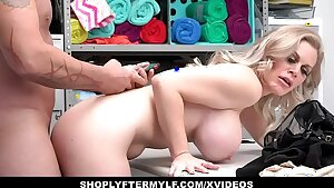 Hot MILF Thief Caught Stealing And Nailed