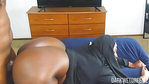 Another Corny ASF BBW Nun Roleplay Equipped With Dick Riding Action!
